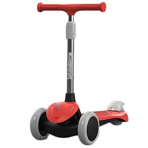 Roller für Kinder 3D dreidimensionale rutschfeste Pedal-Roller für Kinder, Deluxe-Kick-Roller faltbare...