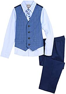 Kenneth Cole Boys' Big 4-Piece Formal Vest Set