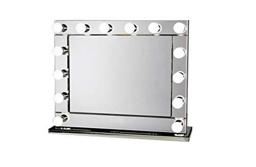 Bright Beauty Anisha Hollywood spiegel 80 x 65 cm make-up spiegel make-up spiegel make-up spiegel make-up spiegel theaterspiegel met verlichting met spiegel rand dimbaar