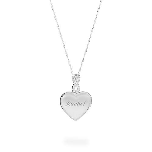 Things Remembered Personalized Crystal Infinity Heart Locket with Engraving Included