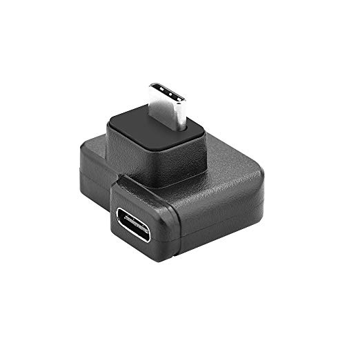 SSSabsir 3.5mm / USB-C Audio Adapter ABS Black Microphone Converter for DJI OSMO Action