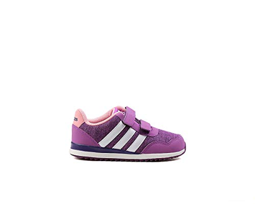 adidas V Jog CMF Inf, Zapatillas Unisex bebé, (Pursho/Ftwbla/Púrtri), 21 EU