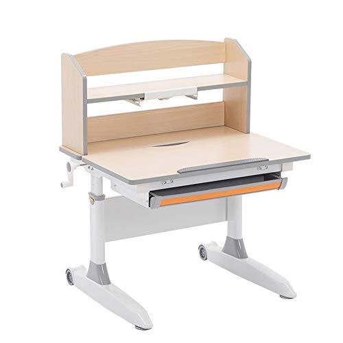 Chendaorong Kinder Schreibtisch und Stuhl Set Kinderschreibtisch Kinderschul Workstation Adjustable Studie Schreibtisch Wipp-Desktop und Fach Ideal für Schreiben, Lesen und Zeichnen