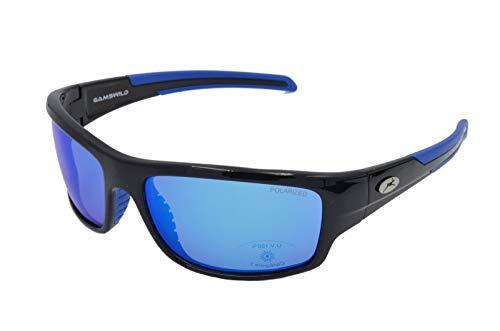Gamswild Sonnenbrille WS6034 Sportbrille Fahrradbrille Skibrille Damen Herren Unisex Glasfarbe | grün-türkis | blau | grau, Farbe: Blau
