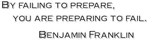 Pegatinas de pared de vinilo con frase 'por Failing to Prepare You are preparing to Fail'