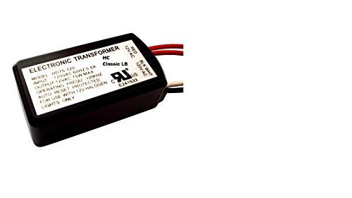 HC Lighting - Halogen/Xenon Electronic Transformer 60 Watt Max output 120 Volt Input / 12 Volt Out Put Potted Transformer