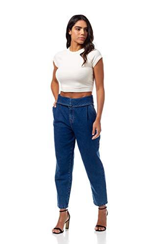 Calça Jeans Com Cinto, Colcci, Feminino, Indigo, 38