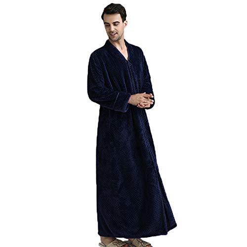 Albornoz de Lana de Coral Franela otoño e Invierno camisón Pareja Engrosamiento Pijama Bata