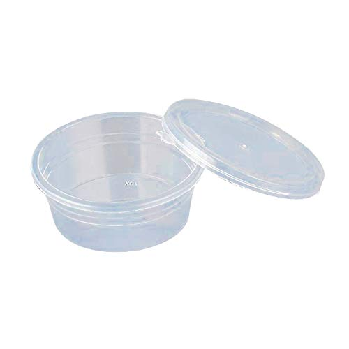 MELYTU 25 Pack Slime Containers,Leakproof Clear Plastic Foam Ball Storage Containers with Lids for 20g Slime