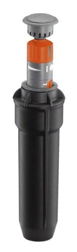 Gardena Sprinklersystem Turbinen Versenkregner T100: Bewässerungssystem für kleinere Rasenflächen von 50 bis 100 m², mit einstellbarer Wurfweite (4-6 m) und stufenloser Sektoreneinstellung, (8201-29)