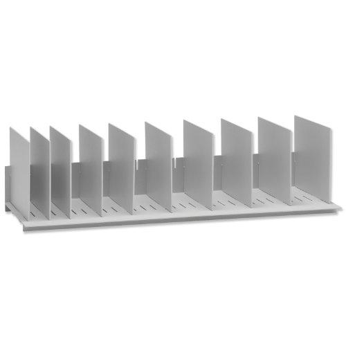 Easy Office EO4932.02 Étagère à 10 compartiments Gris 860 x 220 x 325 mm