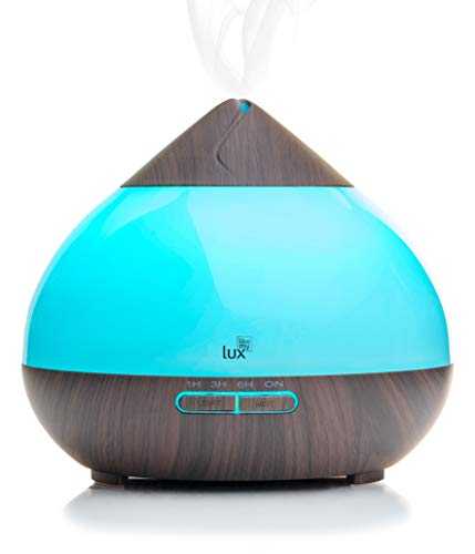 Aroma Diffuser 300ml Likemylux Ultraschall Duft ÖL Diffusor Holz Optik Maserung Raum - Luftbefeuchter Aromathearpie Duftlampe 7 Lichtfarben LED Stimmungslicht Nebelstufe wählbar Auto Abschaltfunktion