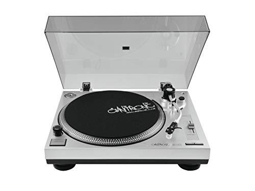 Omnitronic BD-1350 platenspeler zilver | riemaandrijving DJ-turntable | levering incl. pickupspeler