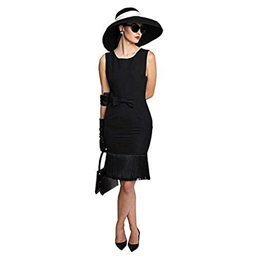 Premium Audrey Hepburn Kostüm Set, Trodelkleid, Mütze, Schal, Handschuhe, Ohrringe und Zubehör (XXS)