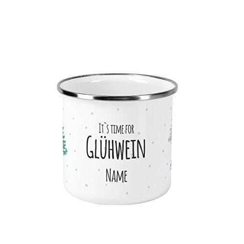 Herz & Heim® Glühweintasse mit Aufdruck - it's time for Glühwein - mit Ihrem Wunschnamen