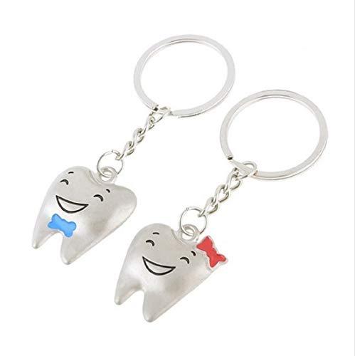 Familienkalender Zahn Schlüsselanhänger Zahn Zähne für Paare / Geliebte im Set Zahn | Geschenk für Paare | Hochzeit | Verlobung | Ehe | Liebe | Valentinstag | Heirat | Frauen