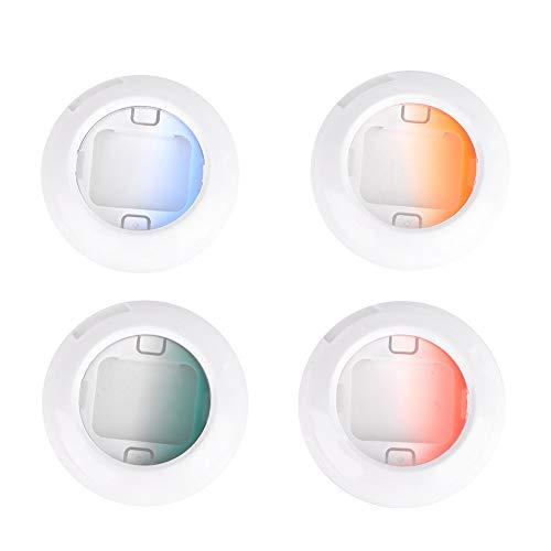Farbfilter, 4-Farben-Blitzfilter für Sofortbildkameras, eingestellt für Fujifilm Instax Mini 7S/8/8 +/9, können das Blitzlicht gleichmäßig streuen und die Farbtemperatur ändern(Gradient)