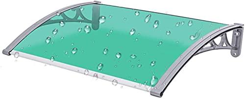 ZXCVB Toldo de la Puerta, Refugio de Porche Terera de la azotea Refugio Policarbonato Panel Azul y Verde Patio Cubierta de Techo Canopy Fácil de Limpiar (Color: Azul, Tamaño: 60x60cm)
