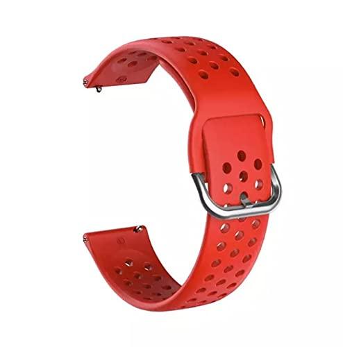 Pulsera de silicona para Xiaomi Amazfit Gts Bip Gtr, correa de muñeca talla S correa de 22mm para reloj inteligente Xiaomi Amazfit GTS 2 BipS (Rojo 1)