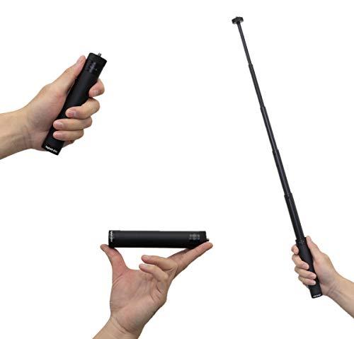 AKB-Gadget 伸縮延長ロッド 伸縮ポール アクションカメラ 用 アクションカム カメラ 撮影用 ゴープロ gopro feiyu tech ZHIYUN DJI osmo action 対応 ジンバル用エクステンションロッド 14.8cm-66cm伸縮調整可能 1/4インチネジ アルミ合金製 (延長棒)