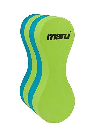 Maru AT7129 Material de Entrenamiento de natación, Juventud Unisex, Lima/Azul, Júnior