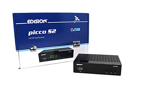 Edison Free TV (Lite v3) Full HD Free To Air Satellite Receiver, PVR Via USB,Video/Music Player Via USB, Receive UK Freesat Stations,Free To Air Box,12 Volt, integrated wifi on board.