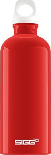 Gourde SIGG Fabulous Red (0.6 L), gourde étanche et sans produits toxiques, ni BPA, bouteille aluminium robuste et très légère, facile à transporter