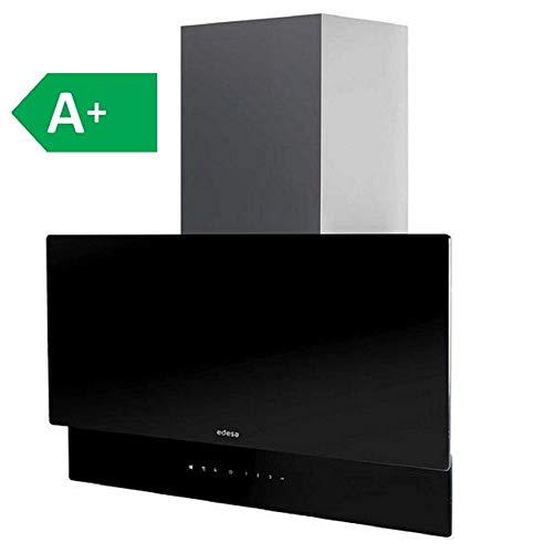 Edesa ECV-7832 GBK/zwart / 70 cm/vlakke afzuigkap wandkap met verticaal design / 800 m3/h aangenaam stil LED