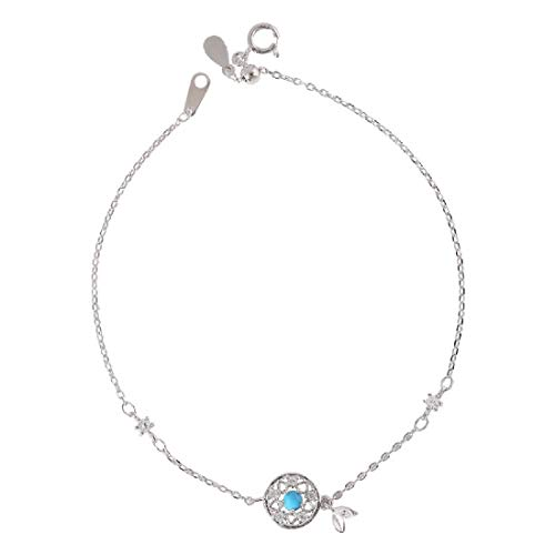 925 Sterling Silver Bracelet Anklet Women Dream Catcher Charms Ankle Bracelets