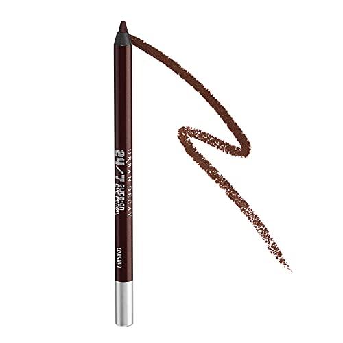 Urban Decay 24/7 Glide-On Eyeliner Pencil, Corrupt - Dark Metallic Reddish Brown with Silver Micro-Sparkle & Shimmer Finish - Award-Winning, Waterproof Eyeliner - Long-Lasting, Intense Color
