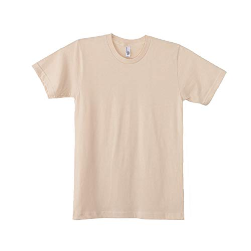 American Apparel Unisex Plain Short Sleeve Cotton T-Shirt (L) (White)