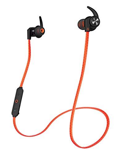 Creative Outlier Sports - Cascos internos Resistentes a la transpiración, inalámbricos, Color Naranja