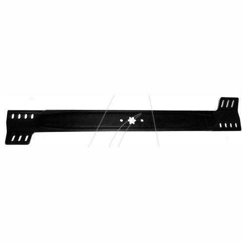76 cm Standard Messer für Aufsitzmäher und RasentraktorenLänge [mm]: 760ZB: SternAL: 8AB: 63,5Ausführung: standardLoch- Ø [mm]: Stück je VE: Leitnummer: