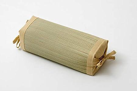 IKEHIKO - Almohada Japonesa Tradicional Hecha de Hierba Natural Igusa Rush de 30 x 15 cm de Altura Ajustable, Fabricada en Japón Beige