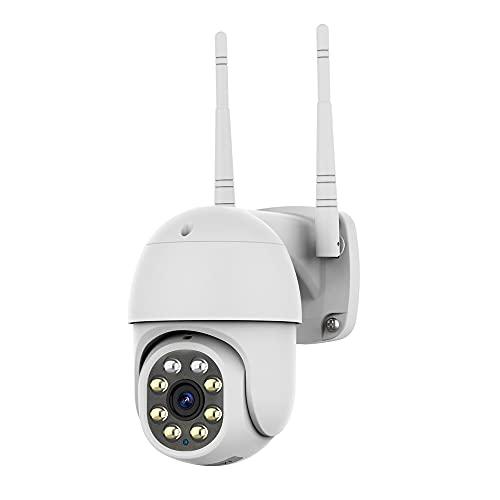 Cámara motorizada de Exterior 1080p con iluminación LED - conexión WiFi Compatible con Smart Life y Tuya Smart