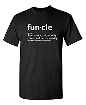 Funcle Gift for Uncle Graphic Novelty Sarcastic Funny T Shirt XL Black
