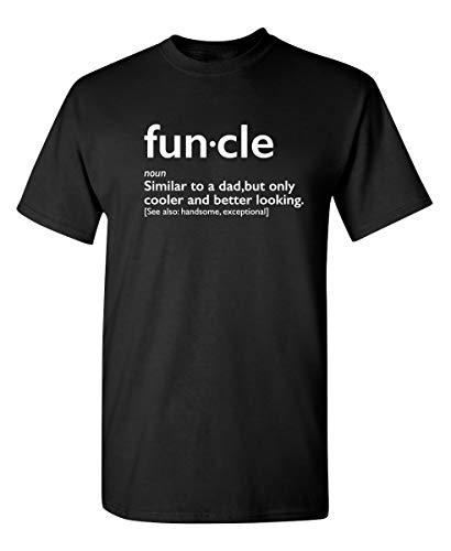 Funcle Gift for Uncle Graphic Novelty Sarcastic - Camiseta para hombre, Negro, X-Large