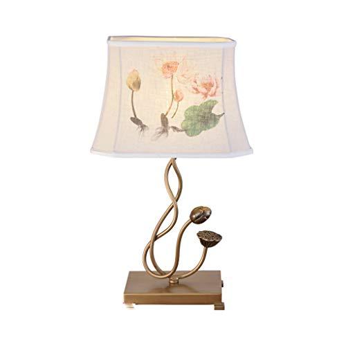 Lámpara de Cabecera La entrada de China Adornos forjado mesa de hierro de la lámpara sala de estar Interior de la sala de TV Decoración Gabinete Craft Table iluminación de la lámpara adornos artesanal
