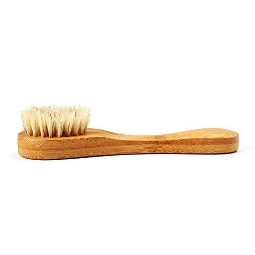 Kongnijiwa Limpiador Facial Pincel de bambú Masaje Cepillo de Lavado de la Cara, Cepillo de la Herramienta portátil Cara de Limpieza Lavado Masaje Cuidado de la Piel