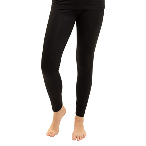 Gomati Damen Thermo Hose - warme Funktions Unterhose lang - Schwarz M