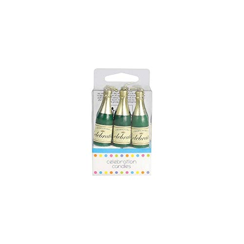 Champagne Bottle Cake Candles - 6 Candles