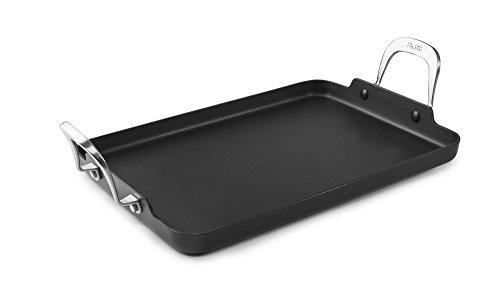 IBILI 465737 Grill, rechteckig, glatt, Titan, Aluminium, schwarz, 34 x 24 x 3 cm