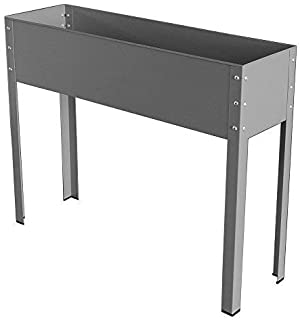 Bio Green MHF Galavized & powdrcoated Metal Elevated Planter Freising-XL,40x12x31.5, Large, Antracite