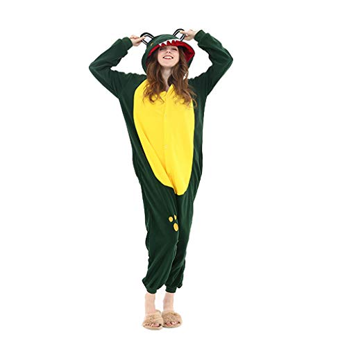 WANGLXPA Suave Animal Pijamas Traje Disfraz de Halloween Cocodrilo Unisexo Kigurumi Adulto...