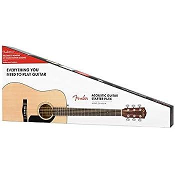 Fender CD-60S Beginner Dreadnought Pack, Natural with Gig Bag, Strap, Picks, Strings, and Fender Play