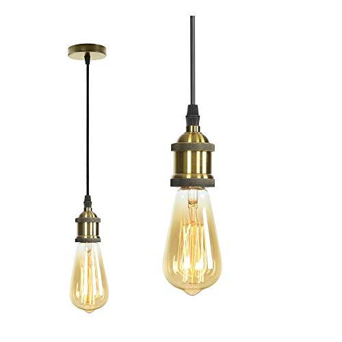 MIFIRE Vintage Mini Luz Lámpara del Techo pendiente E27 Edison Casquillo Portalámparas...