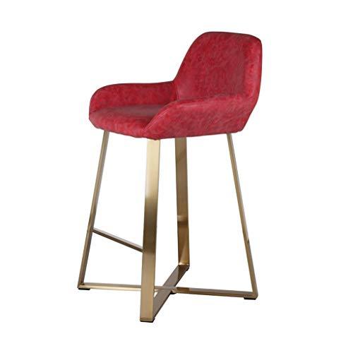 TJSCY Einfache Bar Stuhl, Ledersitz Metall Bar Sitz, geeignet für Home Schlafzimmer Restaurant Cafe, Barhocker