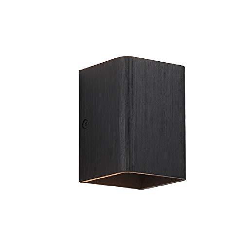 ZRWZZ Moderne aluminium wandlamp, modern geborsteld goud wasbaar wandlamp, eenvoudige en elegante vierkante led-wandverlichting, geschikt voor woonkamer, slaapkamer, gang
