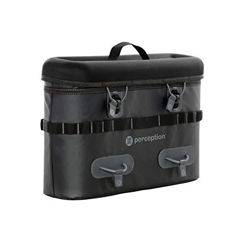Perception Kayaks Saddle Bag | Tackle Storage System for Outlaw Kayak | Holds Two 3600 Plano Boxes | Splash Resistant | Zipper Top |, Black