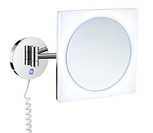 Smedbo Outline Kosmetikspiegel mit Dual LED-Beleuchtung; PMMA quadratisch FK483